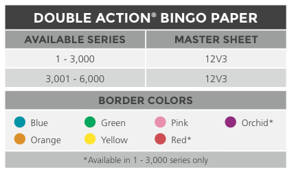 Double Action Bingo® Paper