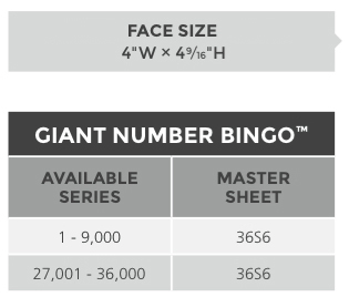 Giant Number Bingo™ Paper