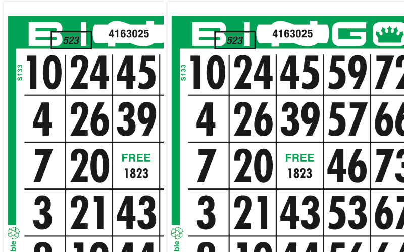 Giant Number Bingo Paper