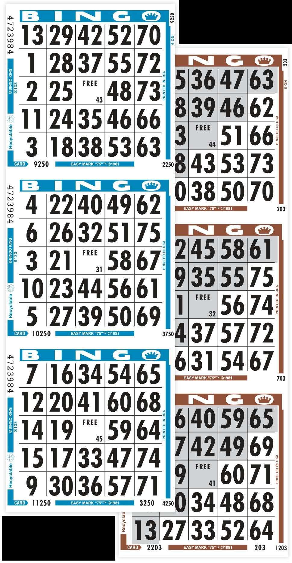 Mark 75 Bingo Paper