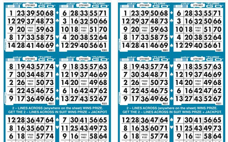Poker Flush Bingo Paper