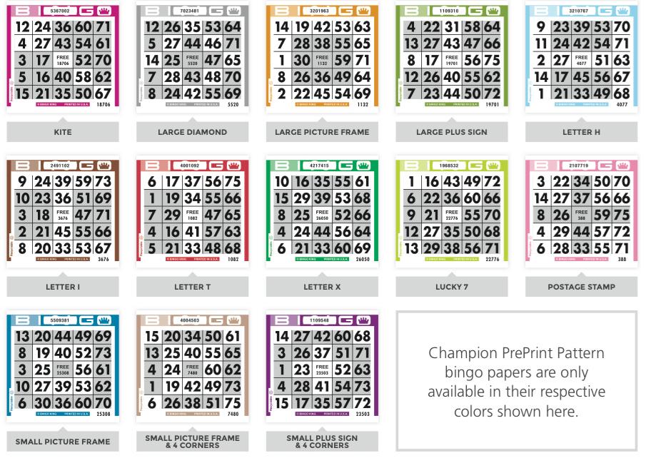 Preprint Pattern Bingo Paper