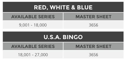 Red, White & Blue Bingo Paper